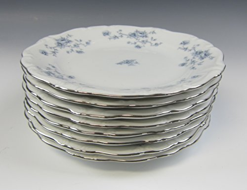 Blue Garland Bread Butter Plates - Lot of 8 Johann Havilland BLUE GARLAND Bread and Butter Plates EXCELLENT