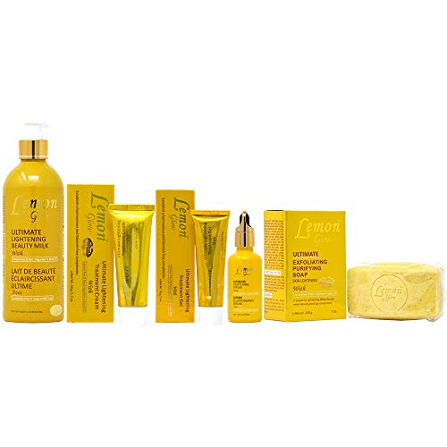 Lemon Lightening - Lemon Glow Package I (Lotion 16.8oz + Soap 7oz + Cream 1.7oz + Gel 1oz + Serum 1.66oz)