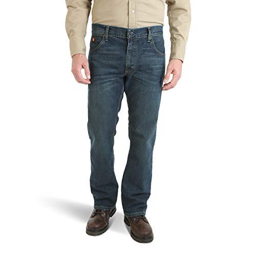 Wrangler Men's FR Flame Resistant Slim Boot Cut Jean, Dark Tint, 29x30 - Flame Resistant Apparel