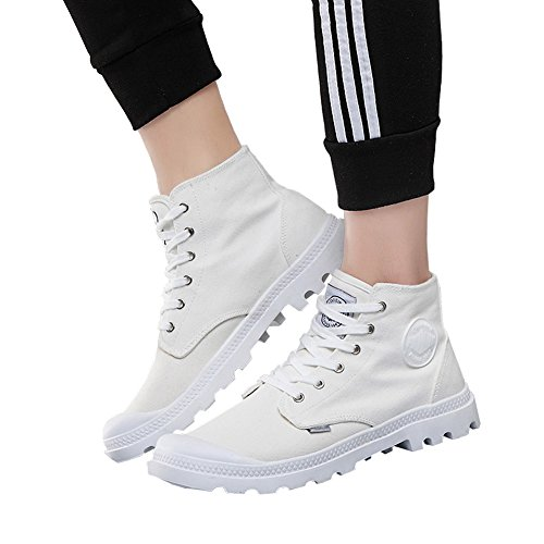 Unisex Couple Men's Women's Outdoor Canvas Combat High top Sneaker Field Paladin Boots