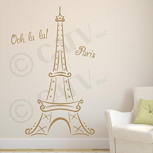 Eiffel Vinyl Wall Sticker Metallic