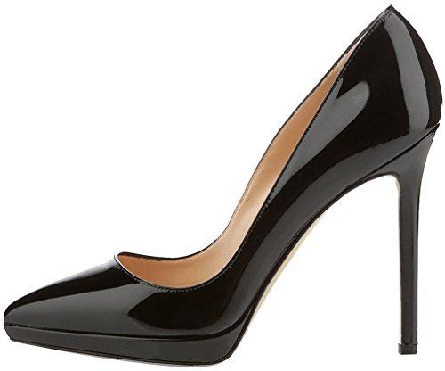 Schuhe Camessage Damen Stiletto 11CM Schlüpfen Calaier Pumps q8gYnxw