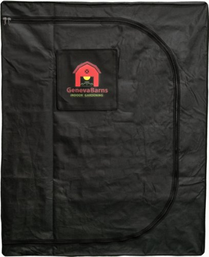 Geneva Barns GB25DW Reflective Hydroponic Grow Tent with D-Zipper, 48