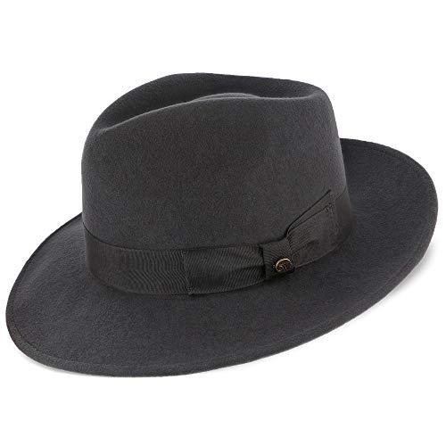 Walrus Hats Imperial Grey Center Dent Wool Felt Fedora Hat