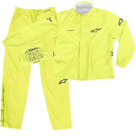 Alpinestars Quick Seal Out Motorcycle Rainsuit Jacket and Pants Yellow (Medium 2851-0382)