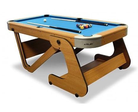 Tavolo Di Lavoro English : Riley tavolo da biliardo pieghevole in legno di faggio di grandi