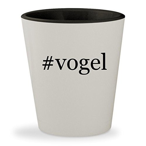 #vogel - Hashtag White Outer & Black Inner Ceramic 1.5oz Shot - Mia Jim Sunglasses