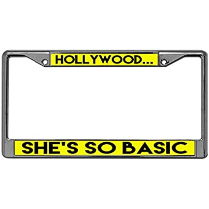 Amazon.com: GND License Plate frames for Cars HOLLYWOOD SHE\'S SO ...