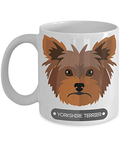 (Cute Yorkshire Terrier Coffee Mug - Perfect Dog Lover Gift - Novelty Present)
