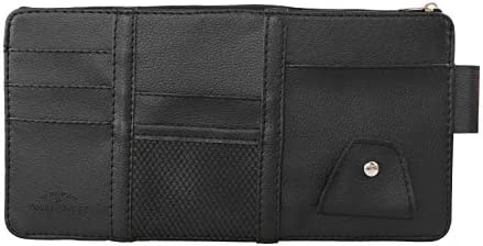 Coodio Car Sun Visor Card Holder Glasses Clip with Mobile Phone Bag Black for Home