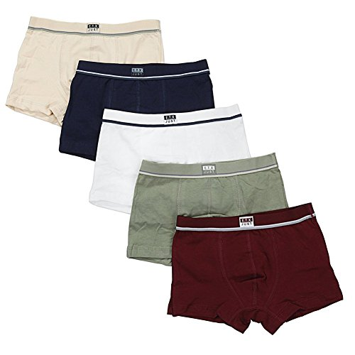 Yanzi6 Baby Toddler Kids Boys Boxer Brief 5-pack Underwear Set Boxer, Various Size Color (9-10 Years)