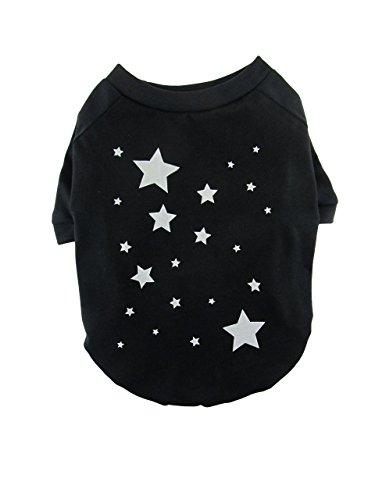 Silver Star Print Dog Tee, Raglan T-shirt, Dog Top, Dog Clothing, Dog Apparel