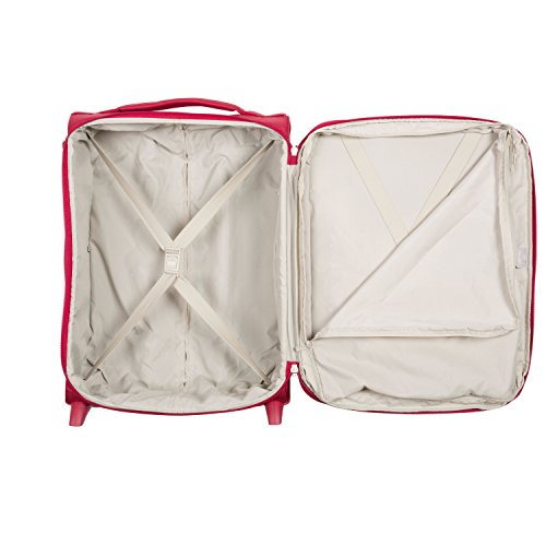 DELSEY AIR ADVENTURE SOFT2 Koffer, 54 cm, 42 liters, Rot (Rouge)