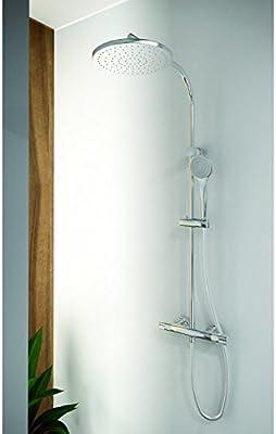 Grb tender - Termostatica ducha con columna fija inoxidable ...