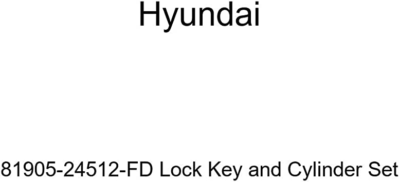 Genuine Hyundai 81905-24512-FD Lock Key and Cylinder Set