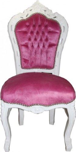 Casa Padrino Barock Esszimmer Stuhl Rosa Weiss Mobel Amazon De
