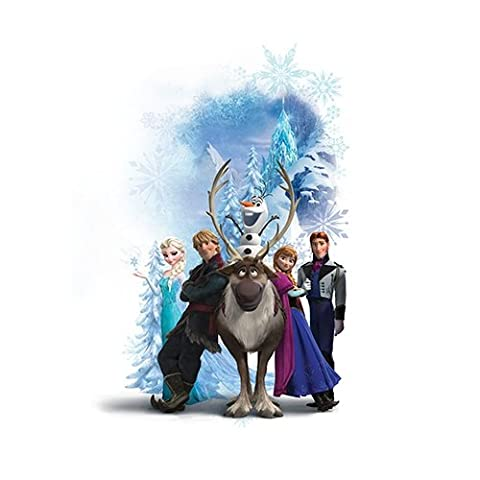 RoomMates Disney Frozen Character Winter Burst Peel and Stick Giant Wall Decals (Olaf Wall Mural)