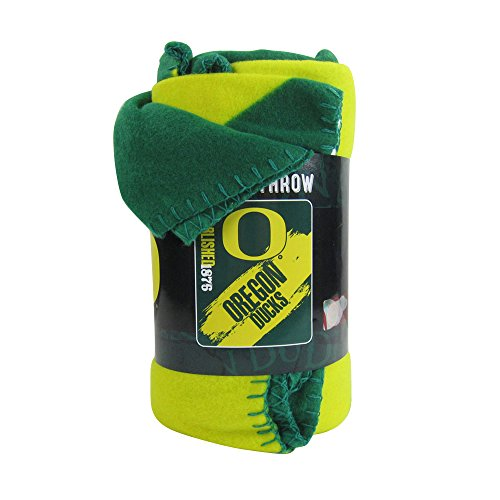 (The Northwest Company Officially Licensed NCAA Painted Fleece Throw Blanket - Oregon Ducks)