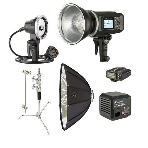Flashpoint XPLOR 600 HSS TTL Battery-Powered Monolight with Built-in R2 2.4GHz Radio Remote System (Bowens Mount) - Exclusive Kit