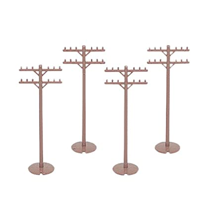 Bachmann Trains - Scenery Accessories - TELEPHONE POLES (12 pcs) - HO Scale: Toys & Games