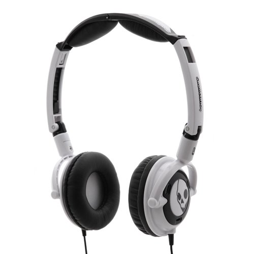 (Skullcandy Headphones LOWRIDER with Mic - White/Black)