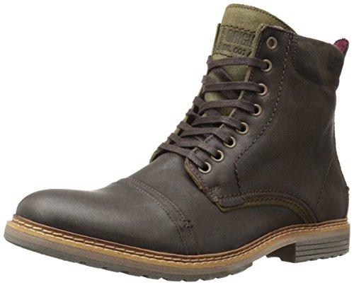 Steve Madden Men's Sargge Winter Boot, Dark Brown, 10 M US (Madden Boots For Man)