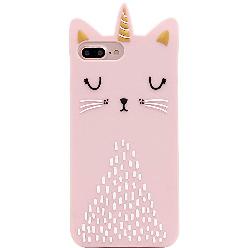Artbling Cat Unicorn Case for iPhone 6 Plus/6s Plus+Silicone 3D Cartoon Animal Pink Cover,Kids Girls Cool Lovely Cute Cases,Kawaii Soft Rubber Unique Character Fashion Funny Protector for iPhone 6Plus