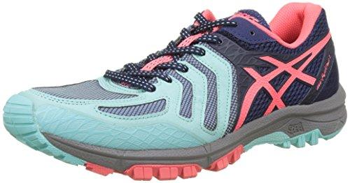 Blue FujiAttack Women's Running Trail Pink Asics Indigo 5 Diva Shoes Gel Multicolour Aqua Splash qOxwT