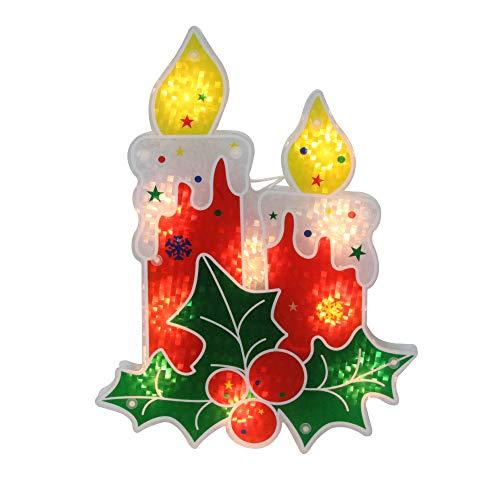 Northlight Christmas, Window Decorations,Lighted, Red -
