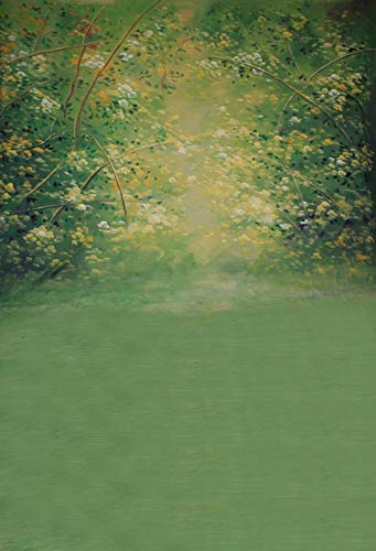 5x7ft Oil Painting Spring Green Scenic Trail Pictorial Cloth Customized Photography Backdrops Digital Printing Background Photo Studio Prop