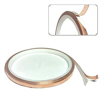 Selbstklebend Kupferband 6 mm x 20 m für Elektronik und zum Schutz von Schnecken