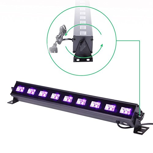 U`King 4Pcs Black light Bar with 9LEDs x 3W UV LED for Glow Bar Neon Blacklight Party Stage Lighting by U`King (Image #5)