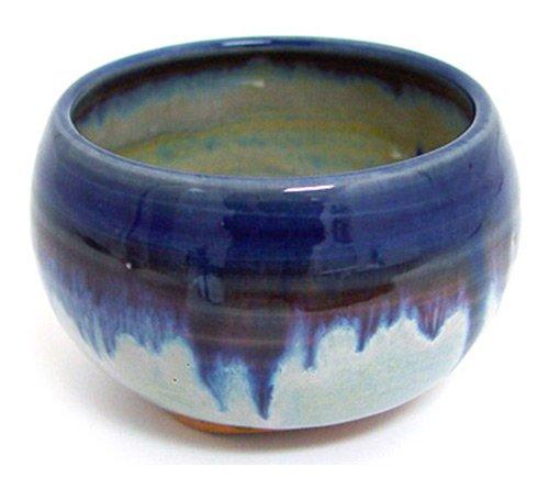 (Shoyeido HandCrafted Ceramic Incense Bowl - Blue Rim)