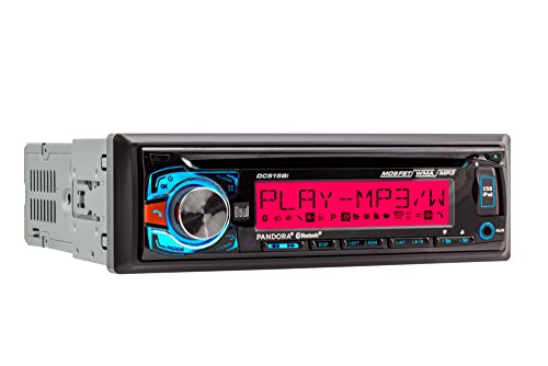 Dual Electronics DC515Bi Multimedia Detachable 3.7 inch 10 Character LCD Single DIN MOSFET Car Stereo with Built-In Bluetooth, CD, USB & MP3 Player