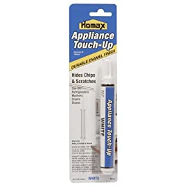 Homax Group 5553 Appliance Touch Up Pen, White 157 The felt tip pen allows for a smooth application of specially formulated heat-resistant enamel paint Works on metal, porcelain and enameled surfaces Available in white, almond and black