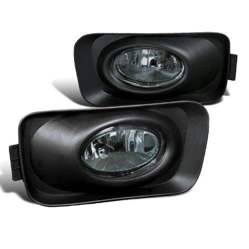 Spec-D Tuning LF-TSX04GOEM Acura Tsx Base Smoked Smoke Lens Fog Lights Lamps ()
