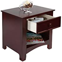 Furniture of America Max 1-Drawer Nightstand, Cherry