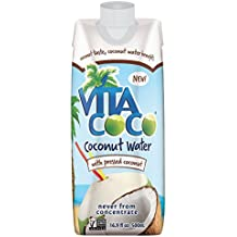 Vita Coco Coconut Water, Pressed Coconut, 16.9 Ounce (Pack of 12)