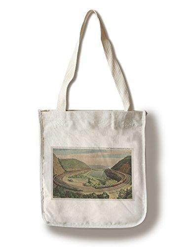 Lantern Press Altoona, Pennsylvania - The Famous Horseshoe Curve (100% Cotton Tote Bag - Reusable)