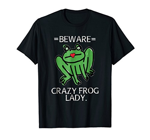 Frog Lady T Shirt Crazy Fun Frog ()