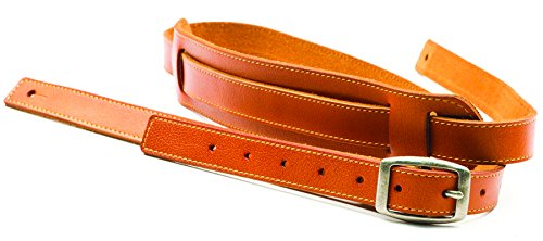 San Leandro Strap LB-144 Skinny Leather Guitar Strap, Tan