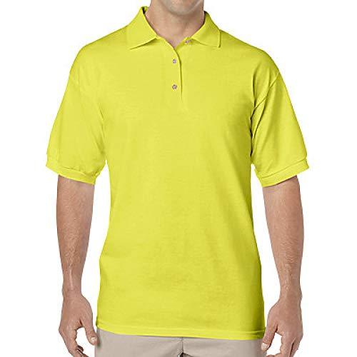 Gildan Adult 6 oz., 50/50 Jersey Polo 2XL Safety Green ()