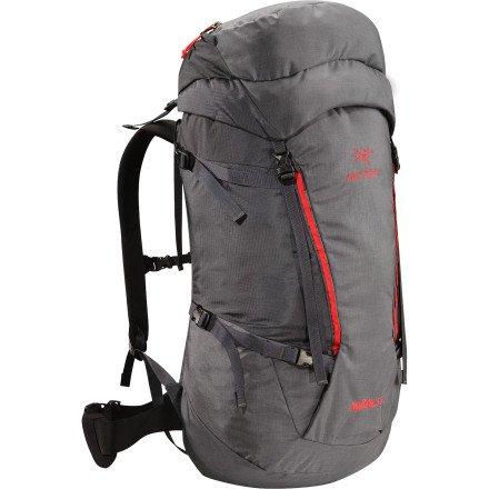 Arc'teryx Nozone 55 Backpack – Titanium – Short, Outdoor Stuffs