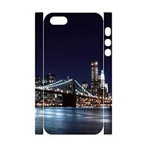 3D [New York2] New York City 3 Case for IPhone 5,5S, IPhone 5,5S Case {White}