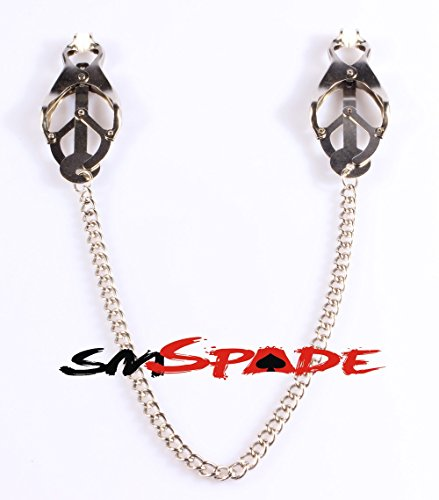 Clearance Sale 1 Pair Silver Nipple Clip with Chain Breast Adorn Nipples Clip Breast Clamp for Sexy Game Adult Sex Toy by Crazy Sexy Cool