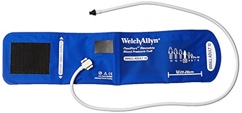 Tube Tri Purpose Connector - Welch Allyn REUSE-10-1TP FlexiPort Reuseable Blood Pressure Cuffs with One-Tube, Tri-Purpose Connectors, Small Adult, Size 10