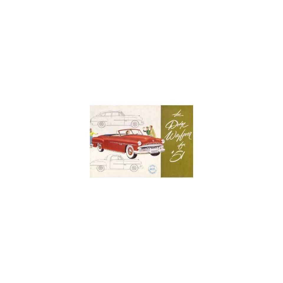 1951 Dodge Wayfarer Sales Brochure Literature Book Advertisement Options Specs