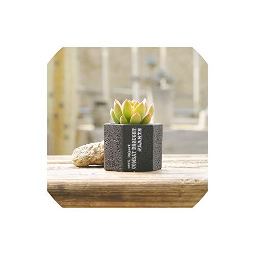 Cement Concrete Ceramic Planters Set Matt Porcelain Flowerpot Mini Geometric Succulent Plant Pots Flower Pot Bonsai Planters,C