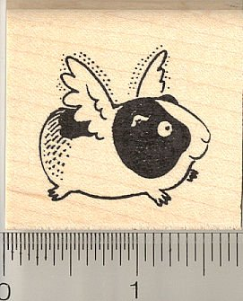 Flying Guinea Pig Rubber Stamp