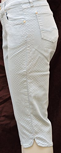 Blu Donna Pantalone Pantaloni Jeans Capri Angels 0q7HXwn